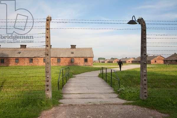 Barracks of the Men's Camp, Auschwitz-Birkenau Concentration Camp, Oswiecim, Malopolska, Poland (photo)