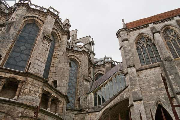 Flying Buttresses of the Apsidal Chapel of Chartres Cathedral, Chartres, France (photo)