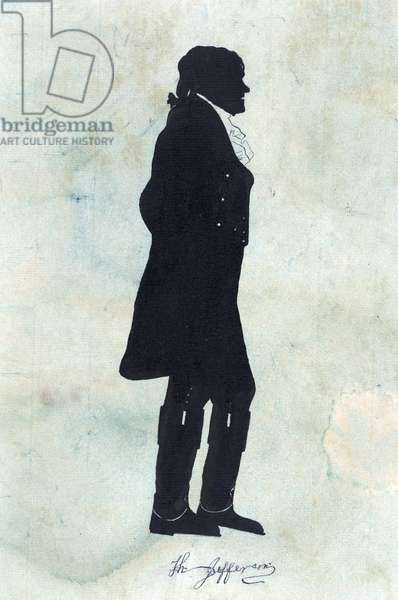 President Thomas Jefferson facing right, 1819