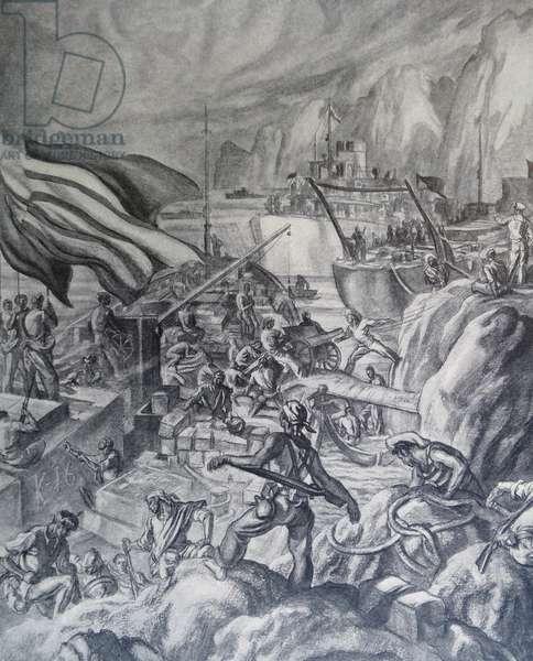 Propaganda illustration by Carlos Saenz De Tejada