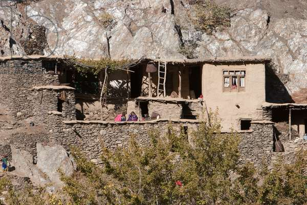 Stone Houses in Mianeh Band, Parwan Province, Afghanistan (photo)