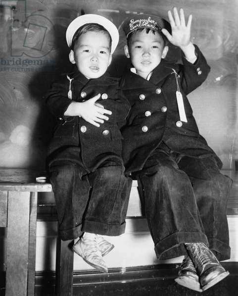 The evacuation of two Japanese boys from San Francisco.