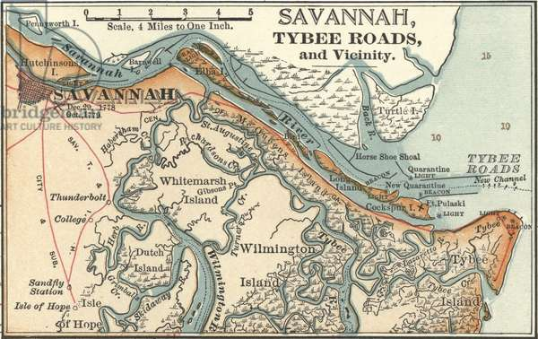 Map of Savannah