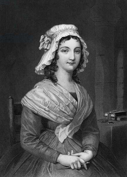 Portrait of Charlotte Corday (b/w photo)