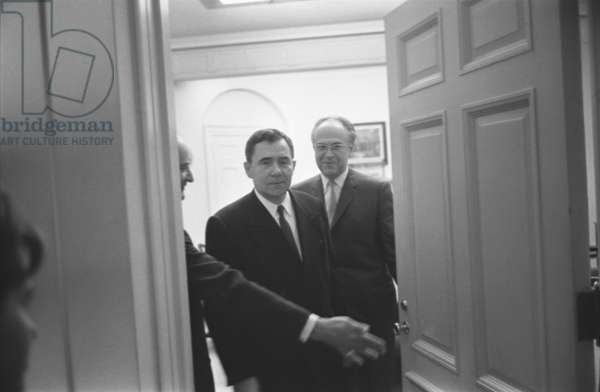 Soviet foreign minister Andrei Gromyko and Soviet Ambassador to the United States, Anatoly F. Dobrynin, 1962