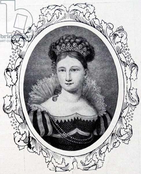 Princess Victoria of Saxe-Coburg-Saalfeld, 1825