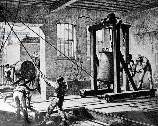 The loading of the cables used in the Atlantic Telegraph.