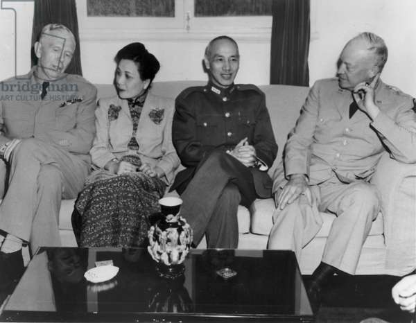George Marshall, Song Meiling, Chiang Kaishek and Dwight Eisenhower