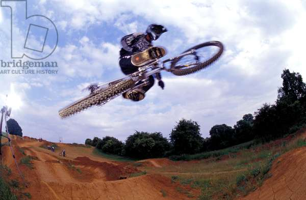 BMXer, Toby Forte, getting some air, doing a jump,.
