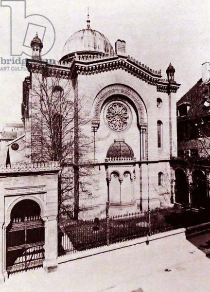 The synagogue of Stuttgart, Germany, was destroyed during Kristallnacht in 1938