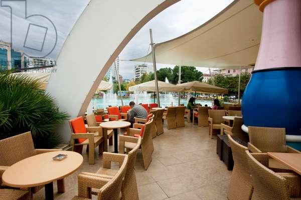 Restaurant at the Tajvani (The Taiwan), Tirana, Albania (photo)
