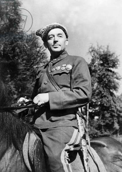 Lieutenant General Nikolai Kirichenko, Commander of the Fourth Cossack Corps, Red Army, World War Two.
