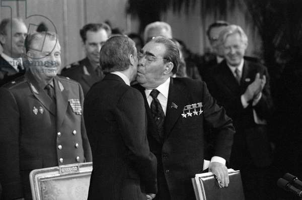 Soviet Leader Leonid Brezhnev and President Jimmy Carter, 1979