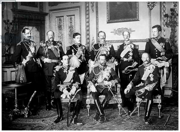 The nine European Monarch at attendance of King Edward VII's funeral