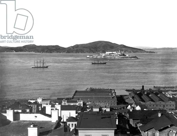 View Of Alcatraz Island , San Francisco, California, c.1903 (b/w photo)