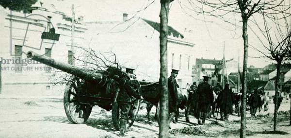 Serbian artillery, 1916