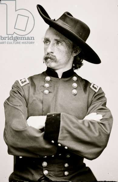 Portrait of Maj. Gen. (as of Apr. 15, 1865) George A. Custer, officer of the Federal Army] 1863 (photo)