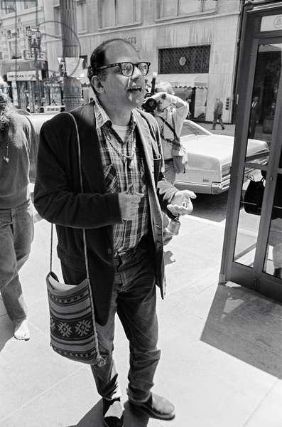 Allan Ginsberg Protest, San Francisco, California, USA, 1971 (b/w photo)