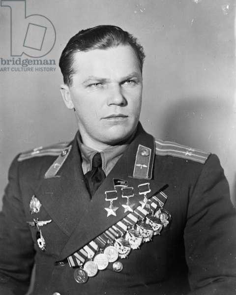 Kozjedub, Ivan, 1950, Famous World War 2 Soviet Pilot.