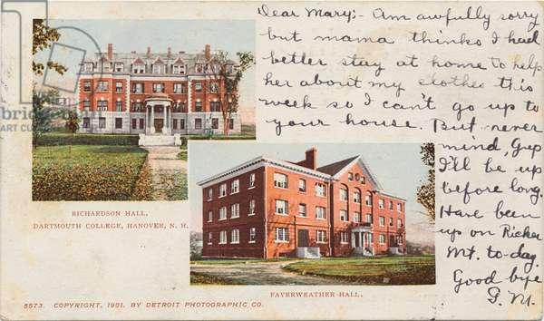 Richardson Hall, Fayerweather Hall, Dartmouth College, Hanover, NH