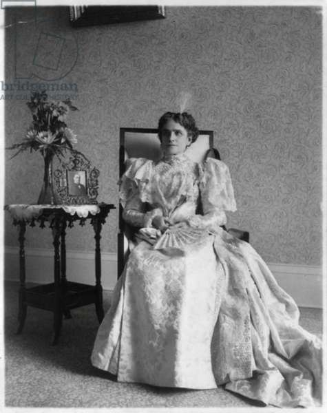 Early photographic print of First Lady, Ida (Saxton) McKinley of the United States.