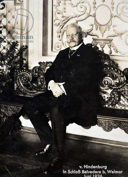 President Paul Von Hindenburg (1847 – 2 August 1934) Prussian-German field marshal, statesman, and politician, and served as the second President of Germany from 1925 to 1934.