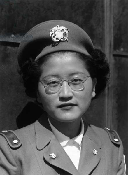 Miss Kay Fukuda, U.S.C.N., Manzanar Relocation Center, California, 1943 (photo)