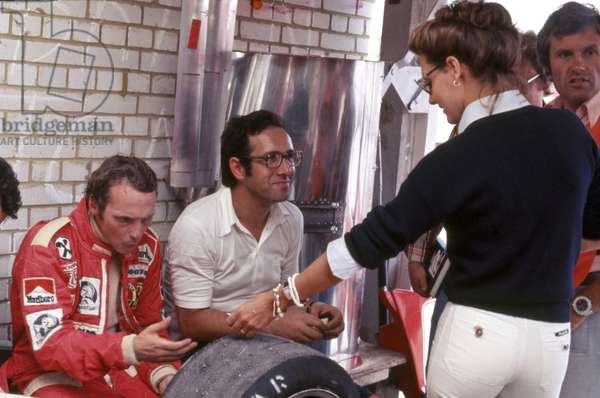 Niki Lauda with his wife Marlene and Mauro Forghieri (photo)