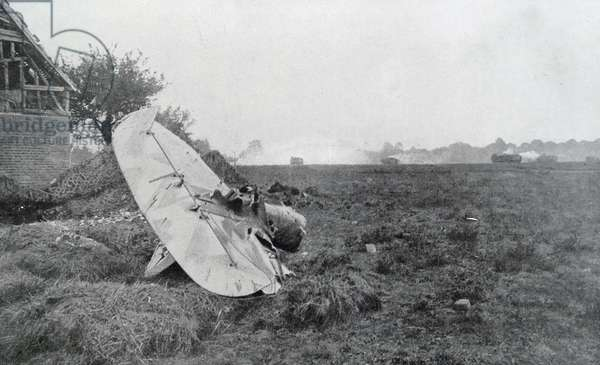 World War One wreckage of a german aircraft.