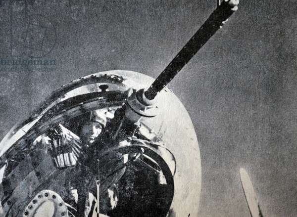 World war Two: Free French gunner in an aircraft gun turret