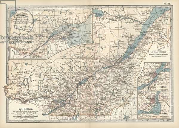 Map of Quebec, Canada