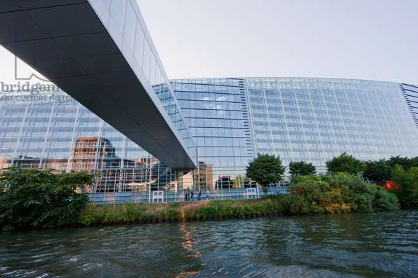 The European Parliament on the Banks of the Ill River, Strasbourg, France (photo)