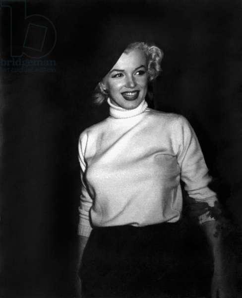Marilyn Monroe In Korea (b/w photo)