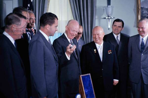 Nikita Khrushchev and President Dwight Eisenhower