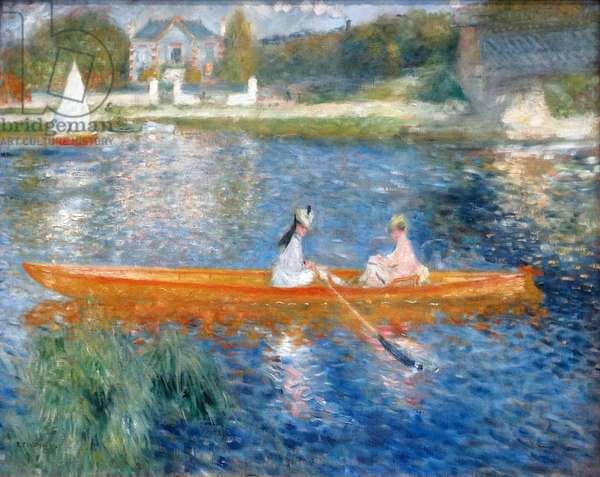 Painting titled 'The Skiff (La Yole)' by Pierre-Auguste Renoir