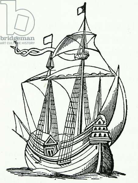 A ship of the late 16th century