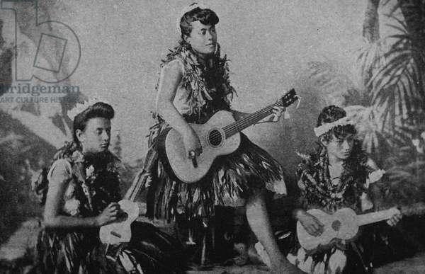Hula girls of Hawaii