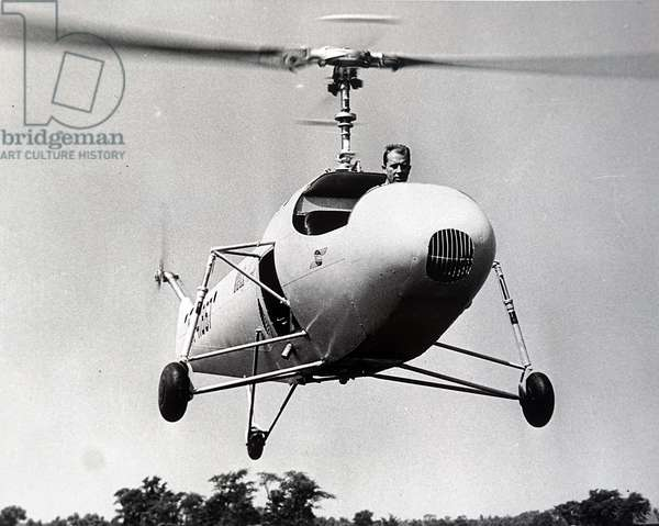 A helicopter invented by Arthur M Young
