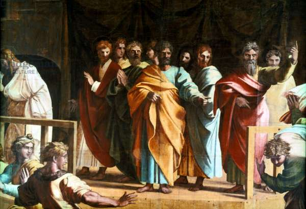 The Death of Ananias, 1754