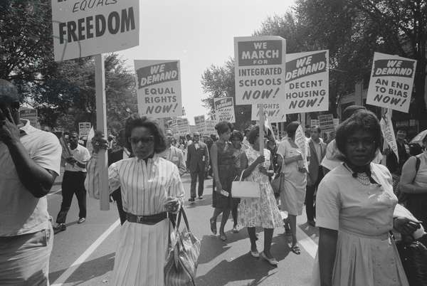 Civil Rights March in DC 1963 (photo)