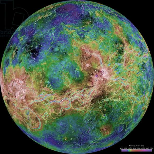 Planet Venus from NASA, Magellan Program.