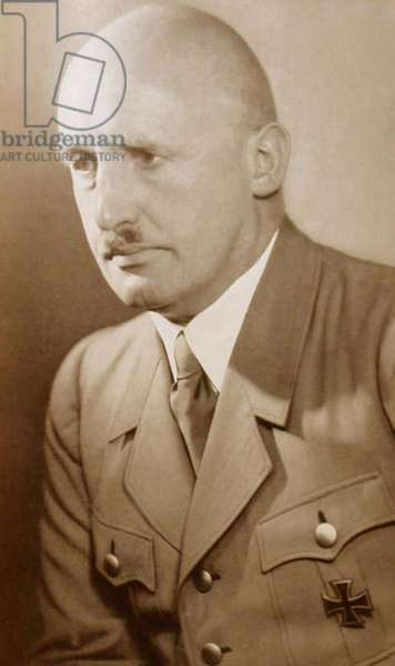 Julius Streicher (1885-1946)  prominent Nazi prior to World War II.  Founder and publisher of the 'Der Sturmer' newspaper, which became a central element of the Nazi propaganda. At the Nuremberg War Crimes Trial, 1946, Streicher was convicted of crimes against humanity and sentenced to death.