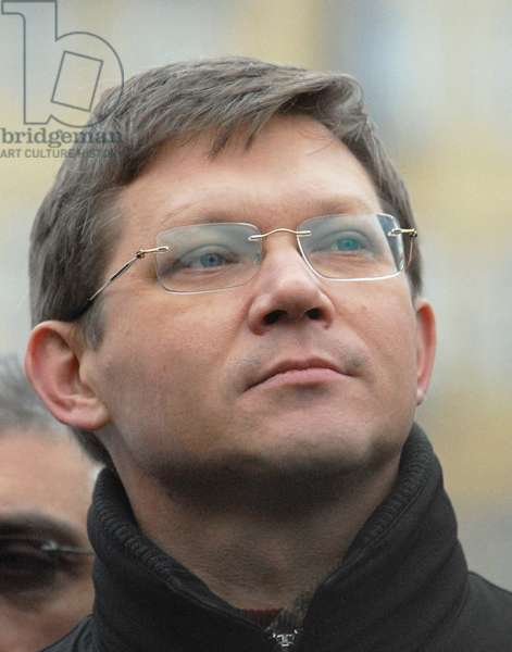 State Duma Deputy Vladimir Ryzhkov is Pictured During an Opposition Protest Rally Dubbed the 'March of Those Who Disagree' in Triumfalnaya Square, December 18, 2006, Moscow, Russia.