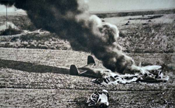 World War Two: German aircraft crashed in France