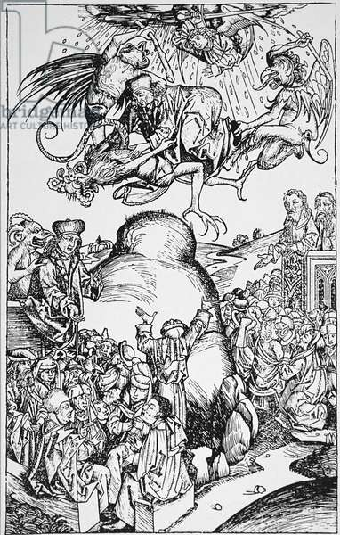 A figure of the Antichrist by Lucas Cranach the Elder, 1754