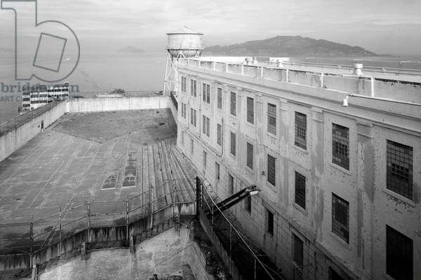 View of Alcatraz on Alcatraz Island, San Francisco Bay, San Francisco, San Francisco County, CA