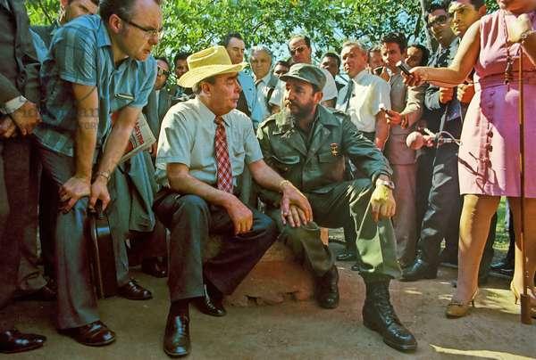 Leonid Brezhnev And Fidel Castro