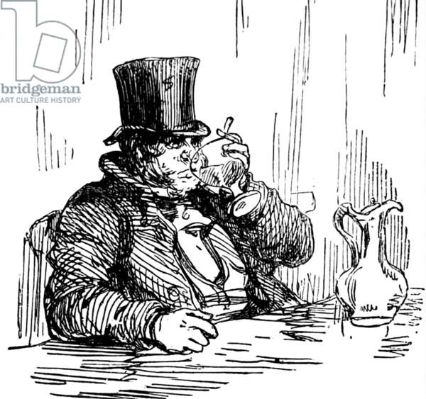 A man drinking, 1850