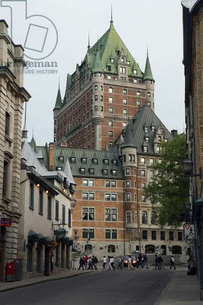 Canada, Quebec, Chateau Frontenac, exterior of luxury hotel