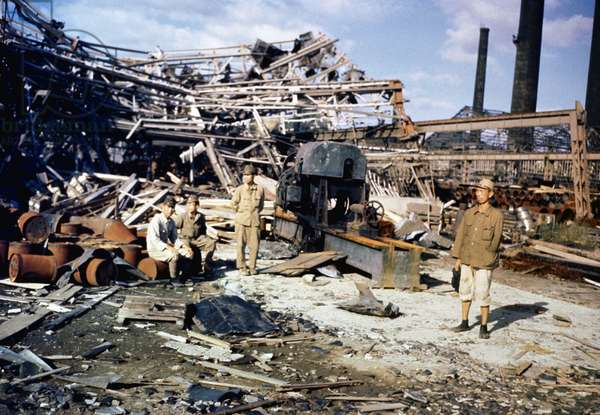 The damage created by the atomic bombing of Nagasaki